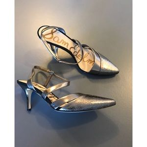 Sam Edelman Women's Metallic Othello Heels